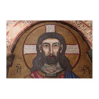 Mosaik von Jesus Acryl Wandkunst