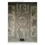 Mosaikplasterung vom römischen Landhaus am Tief Grußkarten