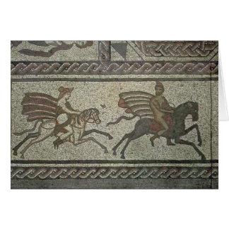 Mosaikplasterung vom römischen Landhaus am Tief Karte
