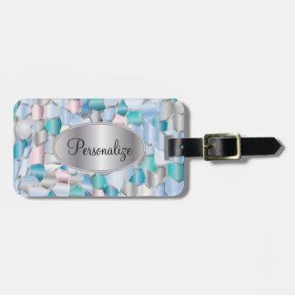 Mosaikschillernder Seashell Kofferanhänger