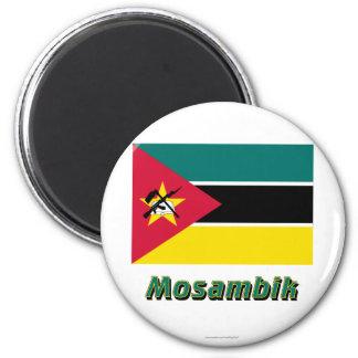 Mosambik Flagge MIT Namen