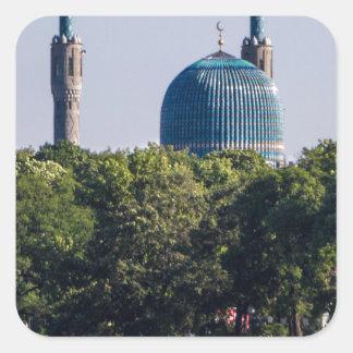 Moschee St Petersburg Russland Quadratischer Aufkleber