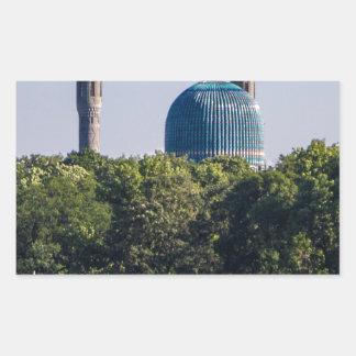 Moschee St Petersburg Russland Rechteckiger Aufkleber