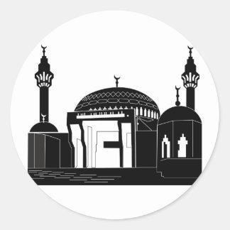 Moscheen-Aufkleber Runder Aufkleber