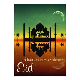 Moscheen-Nachtreflexion - Eid Party Einladung