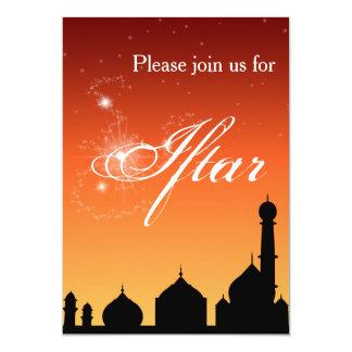 Moscheen-Silhouette-Abend - Iftar Party Einladung