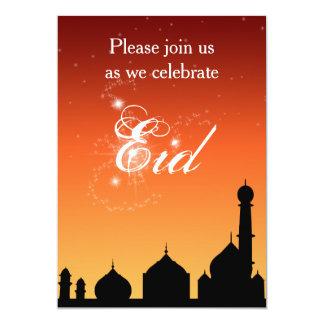 Moscheen-Silhouette-Abends-Himmel Eid Party 12,7 X 17,8 Cm Einladungskarte