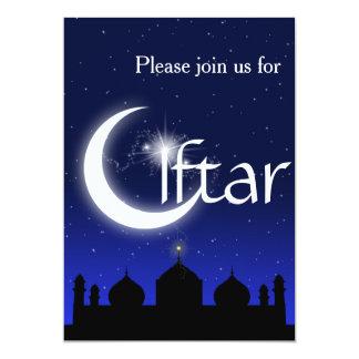 Moscheen-Silhouette an NachtIftar Party Einladung