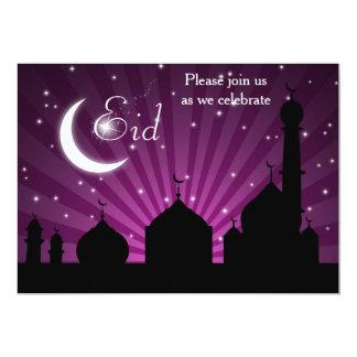 Moscheen-Silhouette-lila NachtParty Einladung