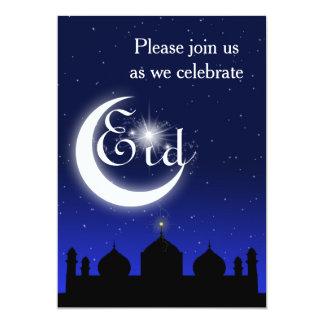 Moscheen-Silhouette nachts - Eid Party Einladung