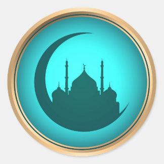 Moscheenhintergrundaufkleber Runder Aufkleber