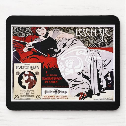 "Moser Kolo 1900 - Lesen Sie - ""las mich "" Mauspads"