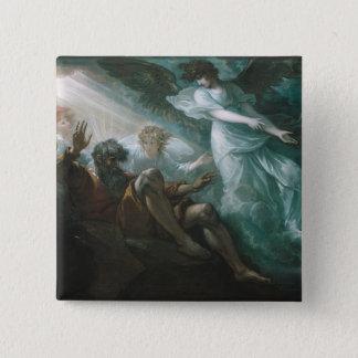 Moses das gelobte Land gezeigt Quadratischer Button 5,1 Cm