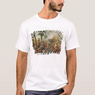 Moses, der Wasser vom Felsen (Öl, zeichnet auf T-Shirt