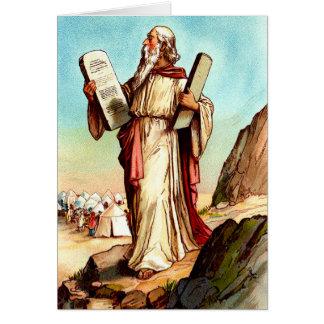 Moses mit den Tabellen der Gesetzgrußkarte Karte