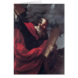 Moses mit den Tabletten des Gesetzes Karte