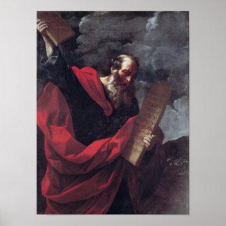 Moses mit den Tabletten des Gesetzes Poster