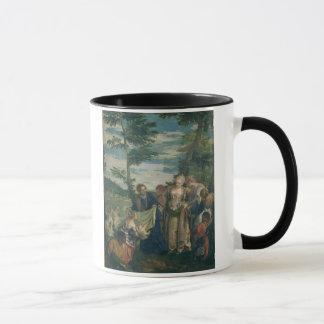 Moses rettete aus dem Nil, 1580 (Öl auf Leinwand) Tasse