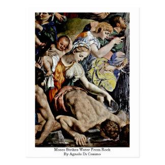 Moses schlägt Wasser vom Felsen durch Agnolo Di Postkarte
