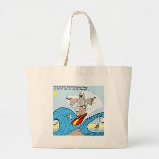 Moses surft lustige Cartoon-T-Shirts-Geschenk-Samm Jumbo Stoffbeutel