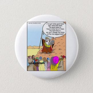 Moses u. die zehn Vorschlags-lustigen Geschenke u. Runder Button 5,1 Cm