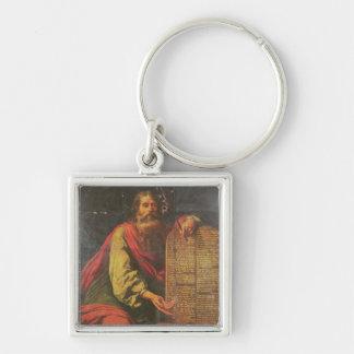 Moses und die Tabletten des Gesetzes Schlüsselanhänger