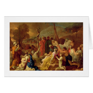 Moses und die unverschämte Schlange, c.1653-54 (Öl Karte