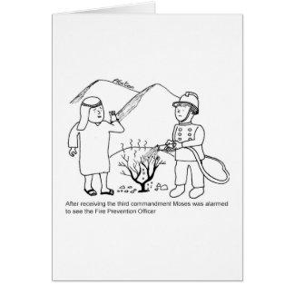 Moses- und Feuerverhütungs-Offizier Karte