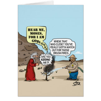 Moses- und Smokey Bärngrußkarte Karte