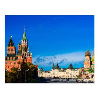 Moskau der Kreml und rotes Quadrat Postkarte