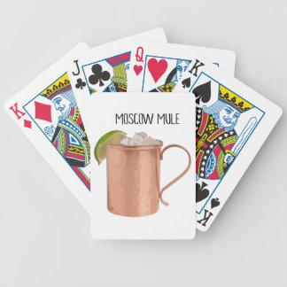 Moskau-Maultier-Kupfer-Tassen-niedrig Bicycle Spielkarten