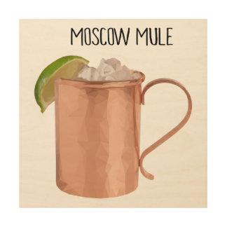 Moskau-Maultier-Kupfer-Tassen-niedrig geometrische Holzwanddeko