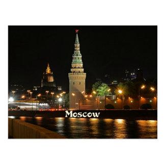 Moskau nachts postkarte