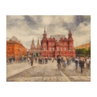 Moskau, Russland, Manezhnaya Quadrat Holzdruck