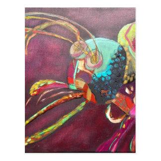 Moskito-Kunst-Entwurf Postkarte