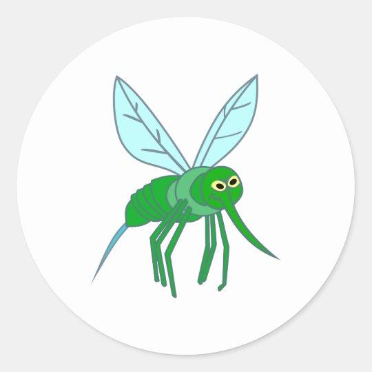 Moskito mosquito runder aufkleber