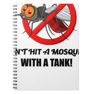 Moskito schlagen es nicht mit einem Behälter Notizblock