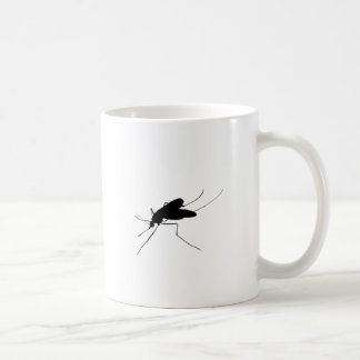 Moskito-Silhouette-Belästigungsinsekt/Wanzenplage Kaffeetasse