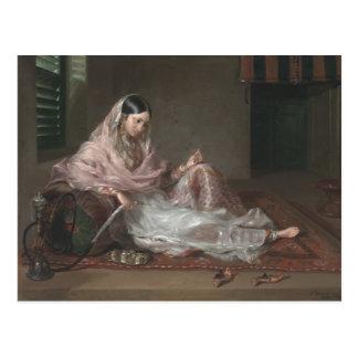 Moslemische Dame Reclining By Francesco Renaldi Postkarte
