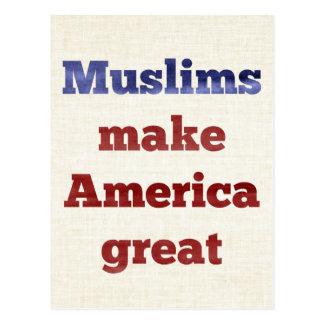 Moslems machen Amerika große Postkarte