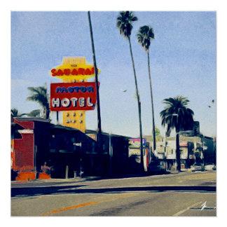Motel auf perfektem Plakat des Poster