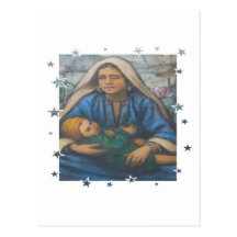 Mother and Child with Star Border Post Cards