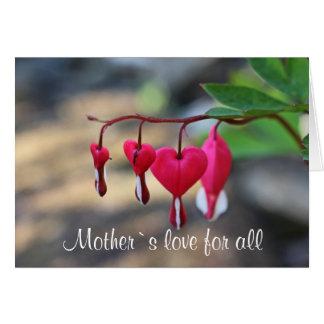 Mother`s love for all grußkarte