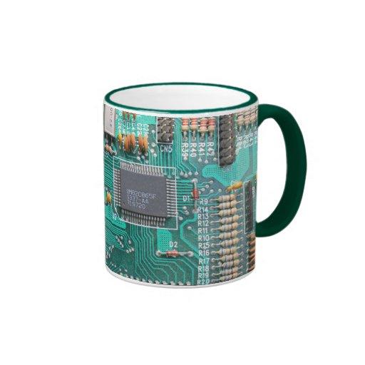 Motherboard, Leiterplatte-Foto, Computer-Nerd Teetasse