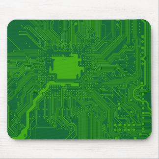 Motherboard-Rechnerschaltung - dunkelgrün Mousepad