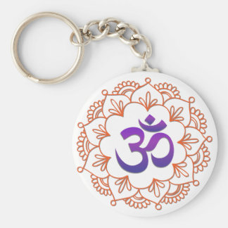 Motiv 1 des Yoga-Entwurfs-/OM Schlüsselanhänger