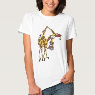 Motiv: lustige Giraffe mit Ohrring und Goldzahn Hemden