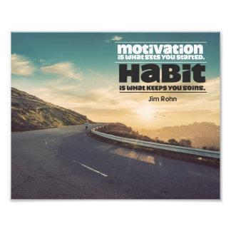 Motivation und Gewohnheit Fotodruck
