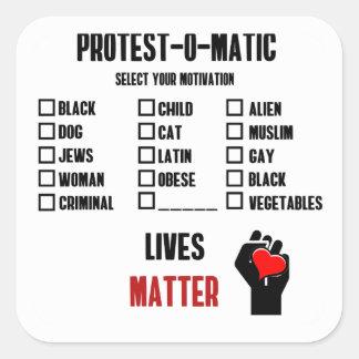 Motivation zum Protest Quadratischer Aufkleber