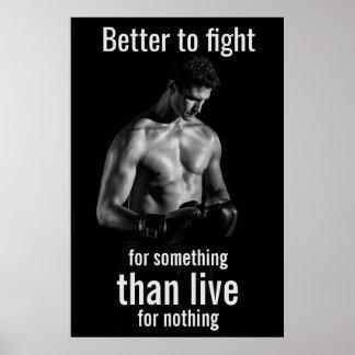 Motivierend Boxer-Zitat Turnhalleworkout-| Poster
